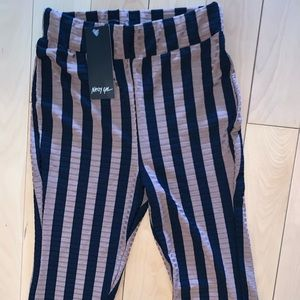 🆕 NASTY GAL! 💋 Striped Flare Pants (NEVER WORN!)
